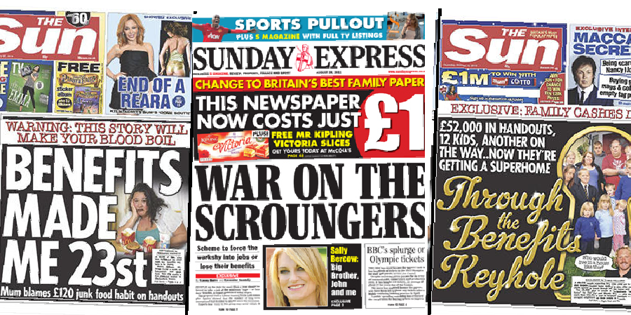 Newspaper headlines that reinforce poverty stereotypes