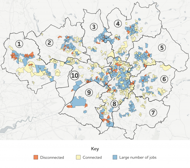 Labour market disconnection among deprived neighbourhoods in Greater Manchester