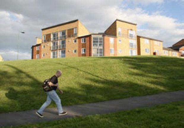 New housing developed as part of the regeneration of Norfolk Park, Sheffield