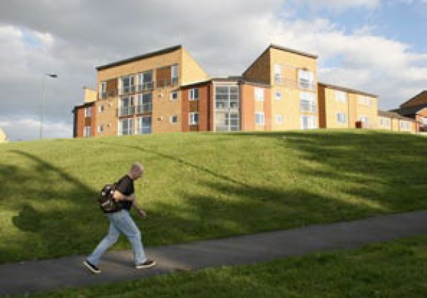 New housing developed as part of the regeneration of Norfolk Park, Sheffield