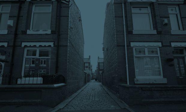 Alleyway between houses