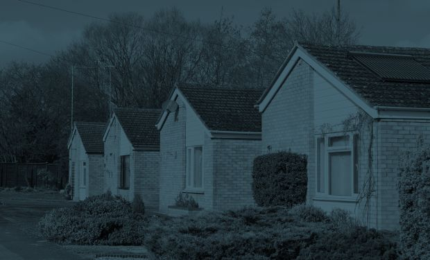 Row of bungalows