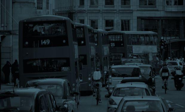 Busy London street