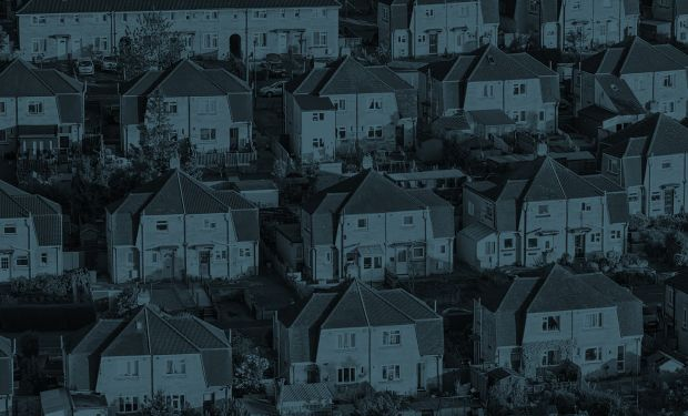 Arial view of houses in Somerset