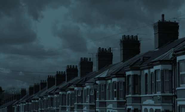 Row of suburban terraced houses
