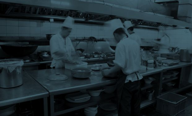 Chefs working in the Kitchen