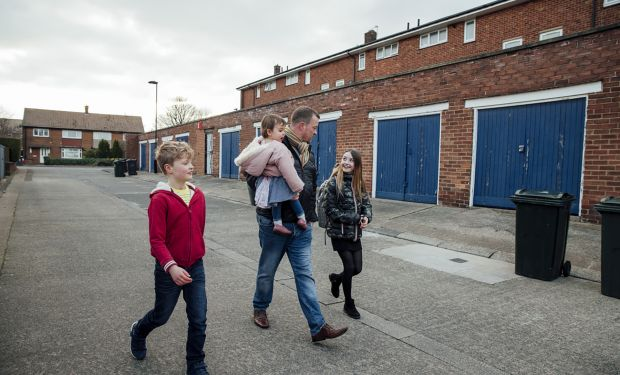 Family with lived experience of poverty