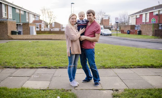Working family on Universal Credit