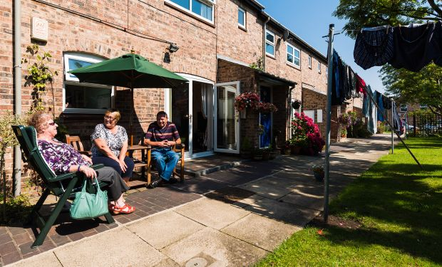 A social scene in Clementhorpe Court