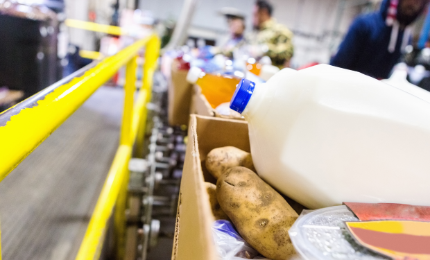 Milk, potatoes and other foodbank donations