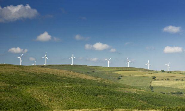 Wind turbines view