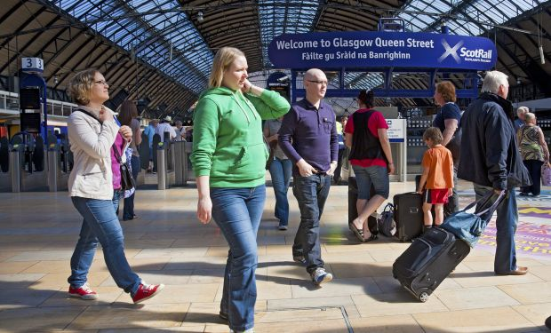 People at Glasgow station