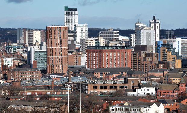 City buildings scene