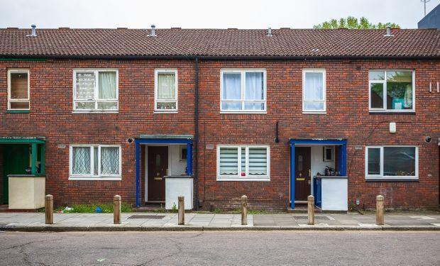 Council terrace housing in Hackney, London
