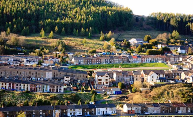 Terraced housing in the Rhondda