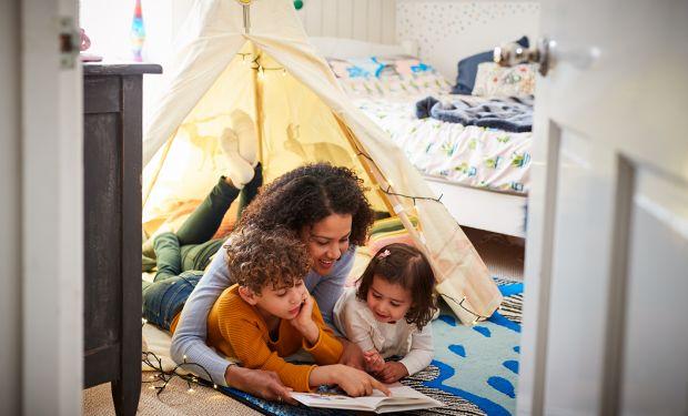 Single-parent and children