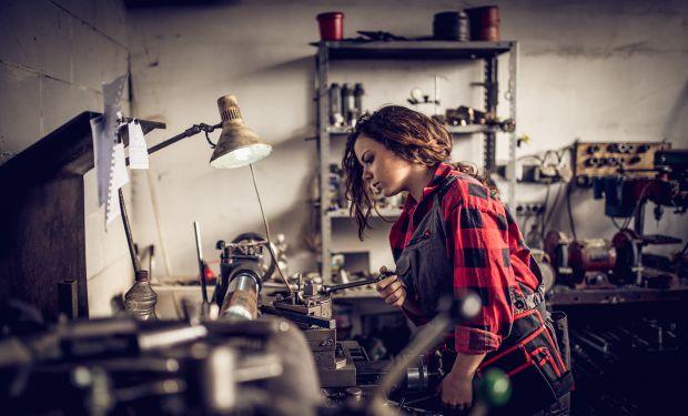 Young woman mechanic