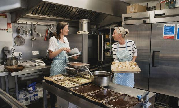 Staff in bakery kitchen