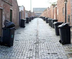 Bins in a ginnel