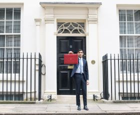 Chancellor Rishi Sunak unveils his Spring 2021 Budget in Downing Street
