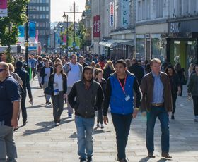 Shoppers in the highstreet