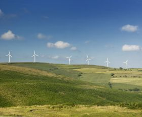 Wind turbines view
