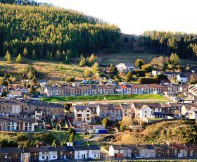 Terraced housing in the Rhondda