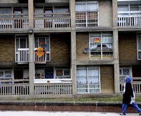 Block of run down flats