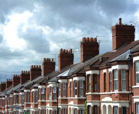 Row of suburban terraced houses
