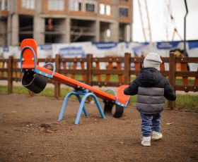Young child in playground