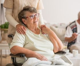 Older woman with support