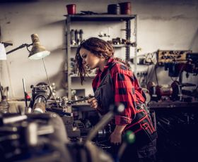 Young woman mechanic
