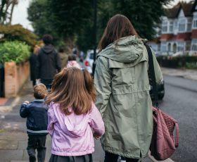 Taking children to school