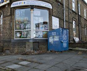 Shut down shop on street corner