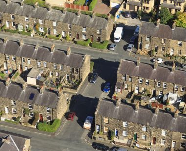 Aerial of streets