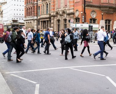 People crossing the road