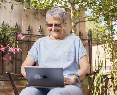 Wendy on laptop