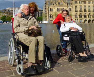 People visiting Bruges