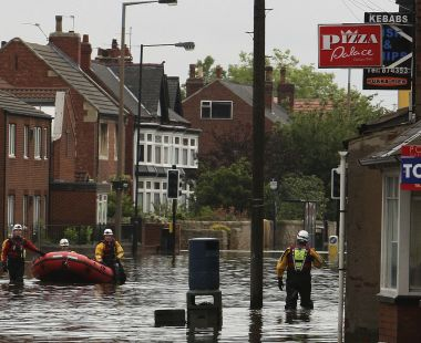 Flooding in Doncaster, South Yorkshire