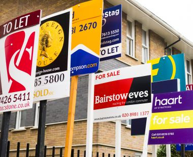 Property sale and rental signs