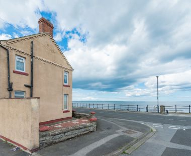 A house in a run-down seaside town