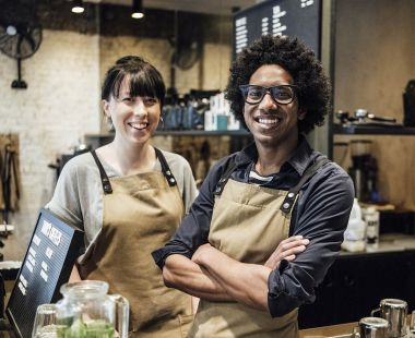 Cafe workers