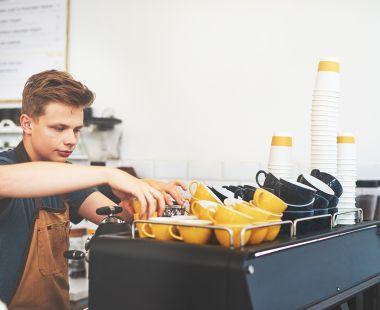 Cafe worker