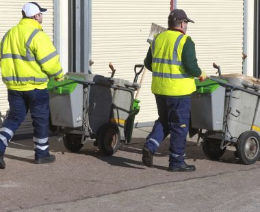 Street cleaners on their rounds